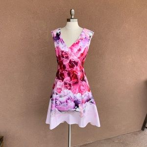 Adrianna Papell Floral Pattern Dress